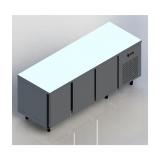freezer horizontal para cozinha industrial em Perus